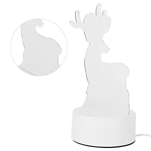 Qinyayoa Luz De Noche, Lámpara De Cabecera Tridimensional única USB para Dormitorio para Sala De Estar para Bar para Habitación De Niños para Fiesta