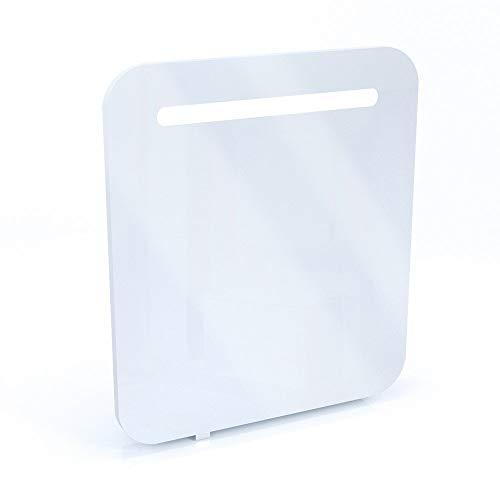 Spiegelschrank LED Weiß Hochglanz Badschrank Badspiegel Spiegel (70cm)