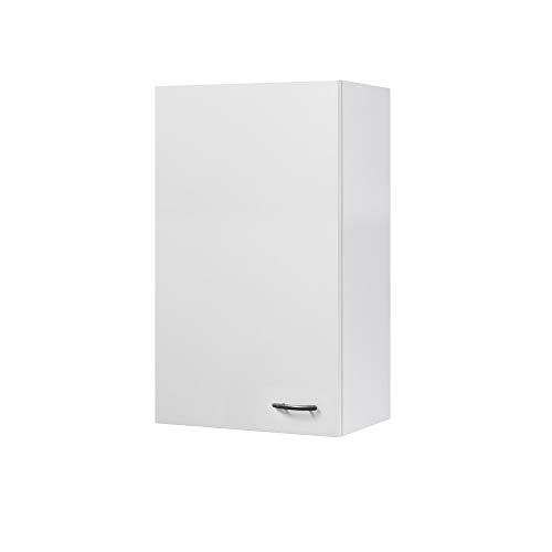 Flex-Well Küchen-Hängeschrank UNNA - Oberschrank vielseitig einsetzbar - 1-türig - Breite 50 cm - Höhe 89 cm - Weiß