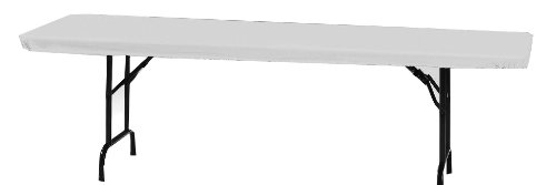 Creative Converting - Funda de plástico para mesa de banquetes, 76.20 cm por 243.84 cm, color blanco