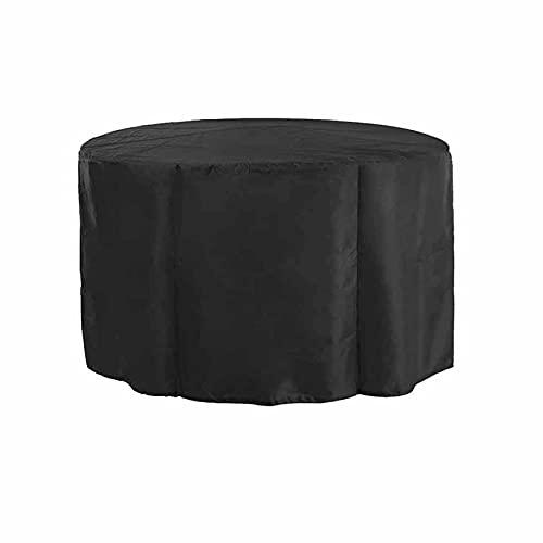 KUAIE Cubierta Impermeable Cubierta de Mesa Circular Anti-rasguños Resistencia Al Desgarro Funda Muebles por Silla, Sofá, Negro, Personalizable (Color : Negro, Size : 230x95cm)