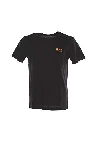 EA7 Uomo T-Shirt con Logo del Petto, Nero, M