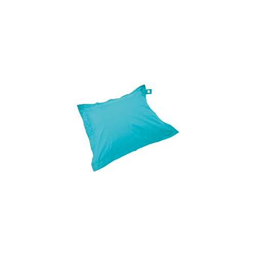 Solys Housse Vide Pouf XL imperméable Bleu Rectangulaire 140 x 120 cm Polyester 1 Place XL