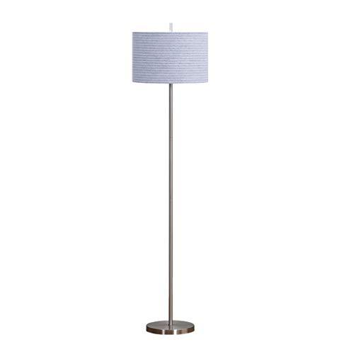 Staande lamp standaard moderne LED-vloerlamp in een aluminiumlegering elektrolyt met een blauwe lampenkap cilinder voetlamp