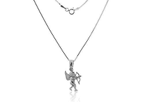 VITAL ARGENT Collar Cupido de Plata, Collar de Plata, Plata 1ª Ley, Collar Colgante Cupido, Cupido de Plata, Collar Mujer