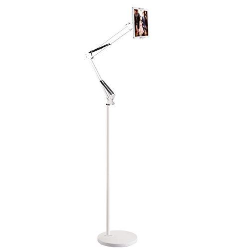 Tablet Halter, Tablet Ständer, Boden Ständer Stähständer Stativ für alle Modelle, Universal 360° Drehbar Metall Stativ Teleskop für Apple iPad Air, iPad Pro, iPad Mini, Samsung Galaxy Tab und Handys