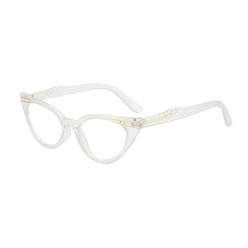 XWYZY Gafas de Lectura, Retro Gato Ojo Mujeres Leyendo Gafas Femenino clásico Caramelo Color Marco Claro Lente presbicia Lentes presbiopic (Color : +200, Size : W)
