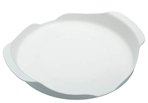 Kitchen Craft KCMTRAY Microwave Tray with Handles, Plastic, White, 20 cm