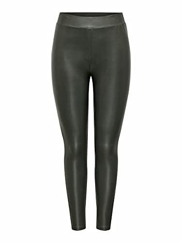 ONLY Damen ONLCOOL Coated Legging NOOS JRS Pants, Beluga, M