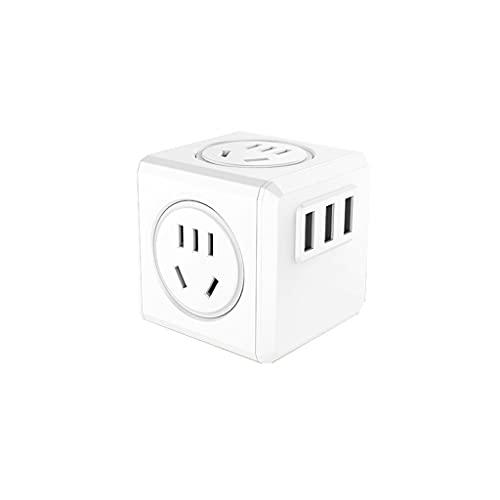 DUOER home Enchufe Internacional de conversión Internacional con una Interfaz USB 2.1A, Adaptador de Viajes Universal múltiple para EE.UU. UE UE AU AU AUS (Color : White)
