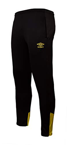 UMBRO Core Training Tapered Pant Pantalones Largos, Hombre, Negro, L