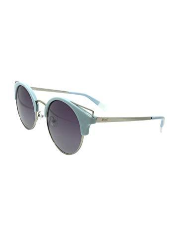 MR WONDERFUL MW 29029 546 52,gafa sol mujer redonda azul celeste en metal,lentes en gris.POLARIZADA.
