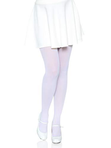 Leg Avenue Women's Nylon Tights, White, One Size
