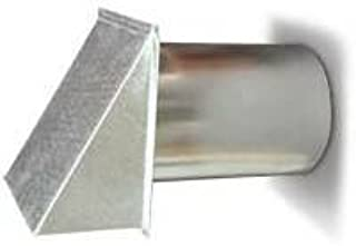 8 Inch Galvanized Exterior Side Wall Cap with Damper and Screen