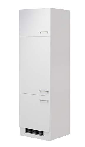 Flex-Well Kühlschrankumbauschrank LUCCA | Umbauschrank für Kühlschrank | 3-türig | Breite 60 cm | Weiß