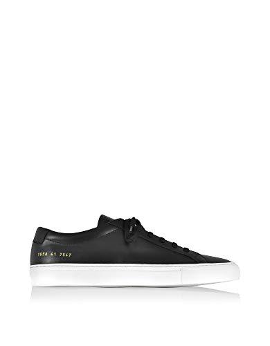 COMMON PROJECTS Luxury Fashion Herren 16587547 Schwarz Leder Sneakers | Jahreszeit Permanent