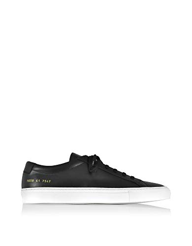COMMON PROJECTS Luxury Fashion Herren 16587547 Schwarz Leder Sneakers | Jahreszeit Permanent