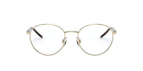 Polo Ralph Lauren Ph1201 - Gafas redondas para hombre, Lente brillante de oro pálido/demostración., 50 mm