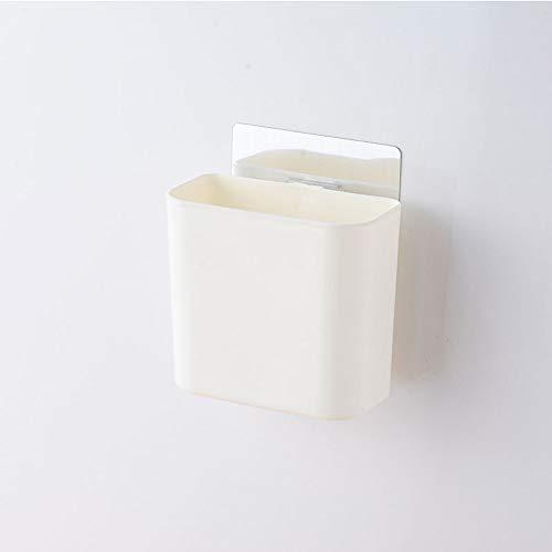 lidun Caja para pasta de dientes de baño, con ventosa, para tubo de cepillo de dientes, montaje en pared, no perforado, soporte para cepillo de dientes (color blanco)