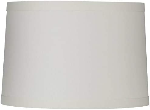 White Linen Drum Lamp Shade 15X16X11 Spider Springcrest product image