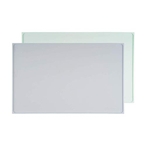 PETFULLY – Silikon Napfunterlage, 48 x 30 cm/hellblau