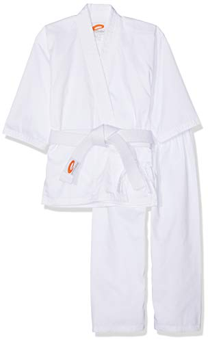 Spokey Unisex Raiden algodón Kimono de Karate, Color Blanco, 120cm