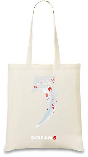 Schrei-Film 5 Teaserplakat - Scream Movie 5 teaser poster Custom Printed Tote Bag| 100% Soft Cotton| Natural Color & Eco-Friendly| Unique, Re-Usable & Stylish Handbag For Every Day Use| Custom