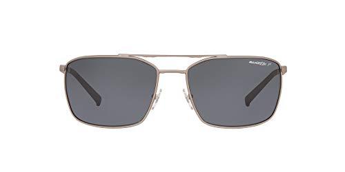 Arnette Men's AN3080 Maboneng Metal Sunglasses, Gunmetal Rubber/Polarized Grey, 62 mm