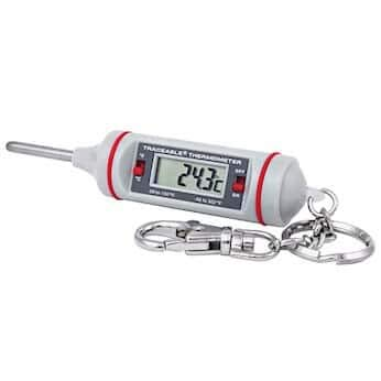 Digi-Sense Calibrated Key-Chain Mini Thermometer, -50-150C/-58-300F