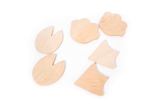 Piedras escalonadas de madera Equilibrio para niños Montessori Step Stone Muebles Juguete Niño Actividad Gimnasio Balance Beam (2 piezas))