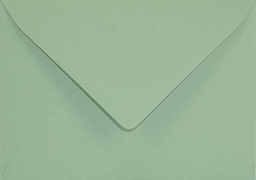25 Grün DIN B6 Briefkuverts spitze Klappe 125x175 mm 120g Keaykolour Matcha Tea edle Briefumschläge Eco für Einladungs-Karten Geburtstags-Karten Glückwunsch-Karten Hochzeits-Karten Grußkarten