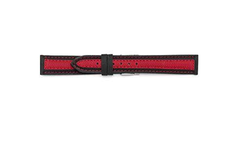Cinturino sintetico compatibile con Sector Expander (20-18, Rosso)