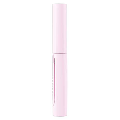 プラス はさみ 携帯用 フィットカットカーブ ツイッギー ポーチサイズ フッ素コート ピンク