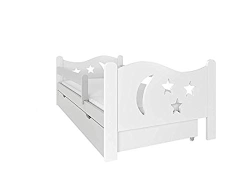 (160x80, Gris) NeedSleep® cama niño infantil con colchón   140x80 160 x80   montessori 2 años   cama con cajones   cama bebe cabeceros infantiles   barrera cama   cama niña cama niño
