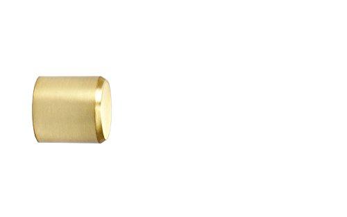 Endstück Kappe in Messing Optik für 16 mm Ø Gardinenstangen - Set 2