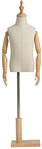 HYFDGV Mannequin Torso Dress Form Mannequin Child Tailors Dummy Mannequin Bust Dressmakers Display Dummy Arm Active for Children 3-8 Years Old Clothing Show (Color : B, Size : Small)