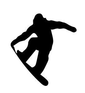 Vinyl-Aufkleber, Motiv: Claremore Snowboard-Aufkleber, 12,7 x 14 cm, schwarz