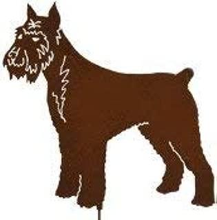 Schnauzer Dog Garden Stake, Pet Memorial, Metal Yard Art