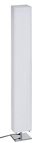 Trango 120S Design Plissee Stehleuchte *Cannes* Eckig Stehlampe, Wohnzimmer Lampe, Leuchte, Standleuchte - L:14cm - B: 14cm - H: 120cm