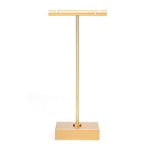 Arete Monitor Estan Vendaje Mesa Decoración Joyería Almacenamiento Bandeja Casa Artesanía Exquisito Forma/dorado / 6x4.4x13cm