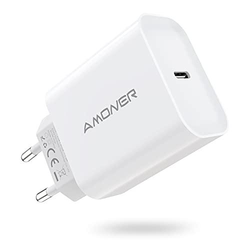 Cargador USB C Amoner 30w y Cable de Carga para Phone Cargador rápido para Phone -12/12mini/12 Pro/ 12 Pro MAX/ 11/11 Pro/ 11 Pro MAX/Nuevo SE/XR