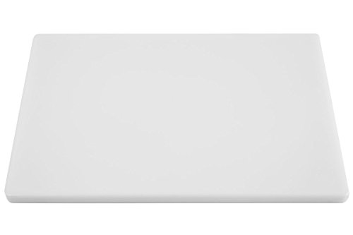 Thick White 18x12 Poly Plastic Restaurant Cutting Board, 0.75 Inch Thick NSF