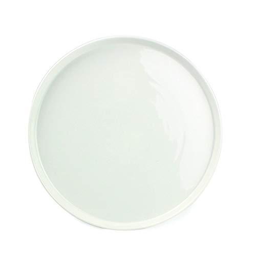 Visiodirect Lot de 4 Assiettes Plates Gust'o en Porcelaine - 26,5 cm