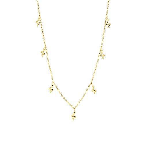 Kkoqmw Collar de Gargantilla con Dije de Serpiente de Oro de Plata de Ley 925, joyería para Mujer, Cadena Punk de Rock, joyería para Boda