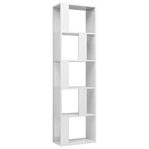 vidaXL Bücherregal Raumteiler mit 5 großen Fächern Wandregal Standregal Aktenregal Raumtrenner...