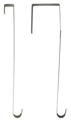Riffelmacher Außentür Türhaken für Kränze 26cm 14402-1er Set á 2 Stück Silber