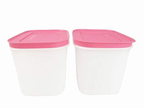 TUPPERWARE Caja de Congelación de 1,1 L blanco rosa (2) 8308