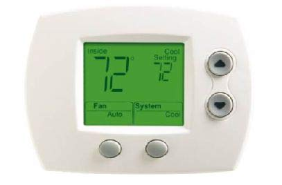 Honeywell TH5110D1022 FocusPRO 5000 Digital Non-Programmable Thermostat Power Method: Hardwired or Battery Stages Heat/Cool: 1/1 Heat/Cool/Heat Pump