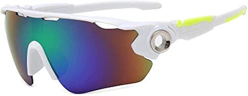 Gafas de sol para mujer, gafas de ciclismo, 8 clolors gafas de sol de ciclismo para hombres y mujeres, gafas de ciclismo Mtb gafas de equitación (color: D, tamaño: talla única)