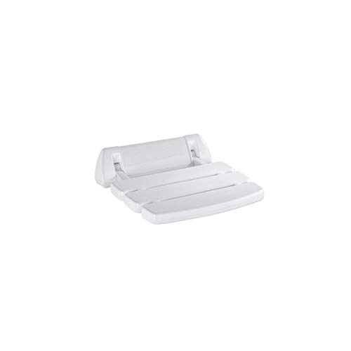 Inda A0436AWW Abattant Rabattable pour Douche Basic, Collection Hotellerie, Blanc